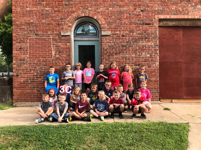 Mrs. Chounard's class at the museum