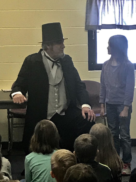 President Lincoln shared his story with us today.