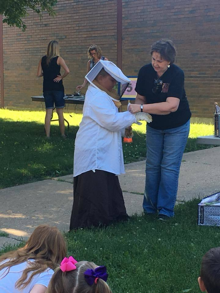 Thank you Mrs. Chris for teaching our 3rd graders about beekeeping.